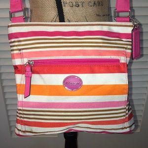 Coach Getaway Multicolored Stripe Crossbody Bag